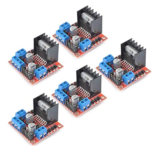 ZEFS--ESD Compatible 5pcs/lot L298N Stepper Motor Driver Controller Board Dual H Bridge Module for Electric Projects for 3D Printer
