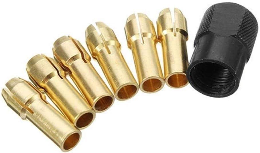 El Paso Mall XUXUWA Collet Chuck Power Tool 6Pcs 1mm-3mm Max 46% OFF Brass D Accessories