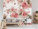 Oedim Fotomural Vinilo para Pared Flores Rosas | Fotomural para Paredes | Mural | Fotomural Vinilo Decorativo |350 x 250 cm | Decoración comedores, Salones, Habitaciones