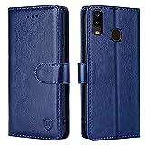 xinyunew Funda para Samsung Galaxy A20E con Tapa, Funda Movil Samsung Galaxy A20E, Funda Libro Samsung Galaxy A20E Carcasa Magnético Funda para Samsung Galaxy A20E, Azul