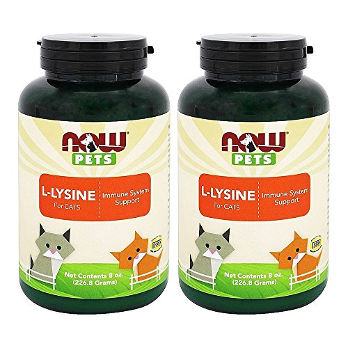 Now Pets L-Lysine for Cats Powder, 8 oz, Pack of 2