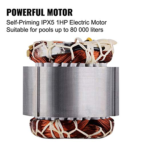 Happybuy Swimming Pool Pump 1hp 110v Hot Tub 0.75 Kw Water Circulation Spa Above GroundPool