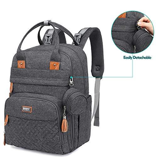 BabbleRoo Wickeltasche Rucksack dunkelgraue Farbe