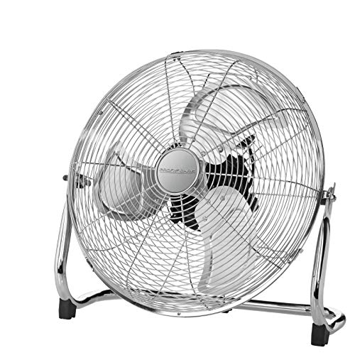 Bodenventilator Leise Retro 45 cm Lüfter Tischventilator Windmaschine (3 Flügel, Ventilator, Leiser Motor, Metall, Sicherer Stand)