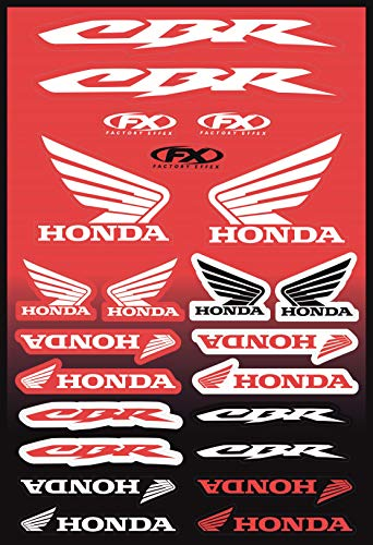 KIT STICKERS ADESIVI COMPATIBILI PER HONDA CBR SPONSOR MOTO CROSS ENDURO CASCO (59)