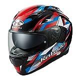 オージーケーカブト(OGK KABUTO)バイクヘルメット フルフェイス KAMUI3 STARS(スターズ) ブラックブルーレッド (サイズ:XL) 587291