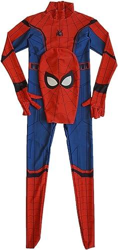 GIFT ZHIZHUXIA Spiderman Cosplay Stretchhose Rei rschluss Siamese Strumpfhose Erwachsene Halloween Film Performance Kostüme Weißachtsfeier Kleid Requisiten (Farbe   rot, Größe   XL)
