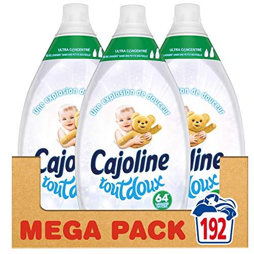 Cajoline - Adoucissant Ultra Concentré Tout Doux Formule Testée Dermatologiquement - 64 lavages - Lot de 3 x 960 ml