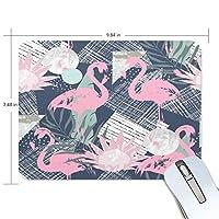 マウスパッド かわいい フラミンゴ 花柄 形 高級 ノート パソコン マウス パッド 柔らかい ゲーミング よく 滑る 便利 静音 携帯 手首 楽