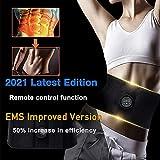 Yonars Electroestimulador Muscular, Abdominales Cinturón con Pantalla LCD, USB Recargable, 6 Modos, 18 Niveles Diferentes para Abdomen EMS Estimulador Muscular Abdominales(Hombre/Mujer)