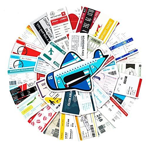 100PCS 10/30 / 50pcs Pasado Pasado Pegatina Etiqueta Equipaje Scooter Car Dibujos Animados Graffiti Decoración de Locomotora Decoración Venta al por Mayor estéticas (Color : 10PCS)