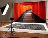 YongFoto 3x2m Telón de Fondo Fushimi Inari-Taisha Japón Linterna Color Pintura Pared RIC Ladrillo Piso Orar Cultura Interior histórico Fondo para Fotografia Fiesta Boda Estudio Fotográfico Accesorios