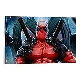 Ghychk Cuadro de Deadpool Comics en lienzo, impresión en lienzo, arte de pared, decoración de habitación, 75 x 50 cm