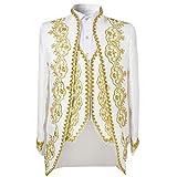 Men's Luxury Casual Slim Fit Stylish Blazer Coats Jackets & Vest & Trousers White