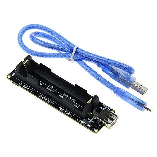 Diymore ESP32 batterie 18650 Shield V3 Port Micro USB de type A USB 0,5 A pour Arduino DIY Kit avec câble