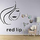 BailongXiao Etiqueta de la Pared de Labios Rojos Coloridos extraíble Autoadhesivo decoración de la habitación del Cuarto de niños Etiqueta de Arte de Pared de Fondo