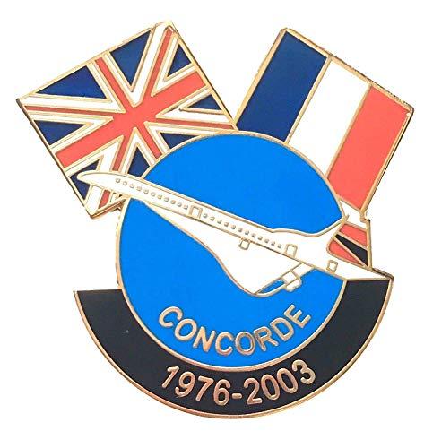 Großbritannien & Frankreich Concorde GEDENKMÜNZE Memorial Freundschaft Flagge Pin Badge