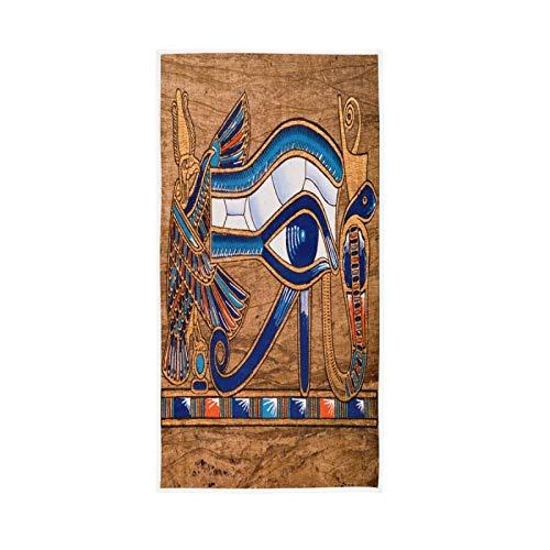 LUCKYEAH - Toallas de mano egipcias antiguas Horus Eye para niñas, mujeres y niños, toallas de mano de algodón suave absorbente para el hogar, hotel, piscina, gimnasio, 76 x 38 cm