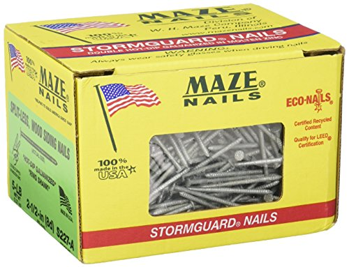 MAZE NAILS S227A-5 Double Hot Dipped Ring Shank Split Less Siding...