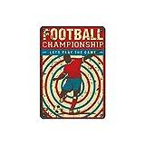 200 mm x 300 mm Nostalgic-Art Cartel de Chapa-Pop Art Retro Poster,Retro fútbol-tin sign para Cafés y bares