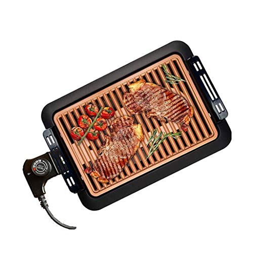 Household Smoke-Free elettrico Grill Grill basso contenuto di grassi, intelligente controllo della temperatura elettrica della vaschetta di cottura arrosto Grill Rack, Interni Esterni Barbecue Articol