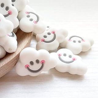 Mamimami Home 20pc B/éb/é Silicone anneau de dentition sourire nuages l/âches perles collier bricolage /à croquer Bracelet jouets de dentition nouveau-n/é