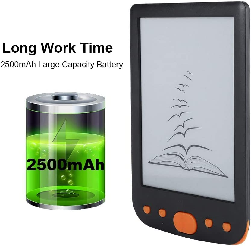 Blue E Ink Book Reader 800600 Paper-Like 6 Inch Book Reader Portable Max 32G TF Card Support for Reading Outdoor Ebook