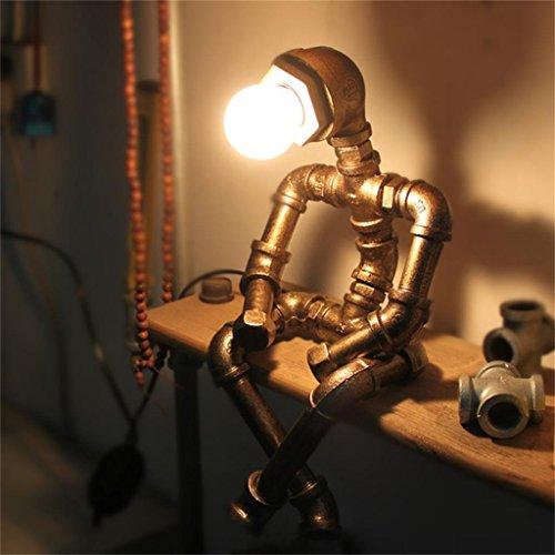 Créatif tuyau de fer loft soins des yeux industrielle rétro tuyau robot lampe