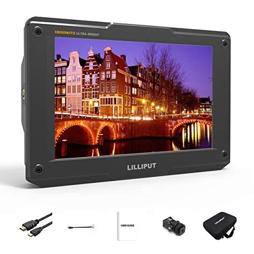 Lilliput H7 7 Zoll 1800cd/㎡ On-Camera Field Monitor 4K HDMI Input Output 1920x1200 IPS 3D Lut Top Broadcast Kamera Monitor (Keine Batterie, Keine Stromversorgung)