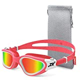 ZIONOR Kids Swim Goggles, G1MINI Polarized Swimming Goggles for Girls and Boys, UV Protection Anti-Fog Adjustable Strap Fit for Child and Youth (Red Lens)