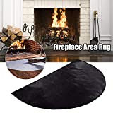 Alfombra de fibra de vidrio resistente al fuego, resistente al fuego, resistente al fuego, alfombra protectora para chimenea, alfombra antideslizante para chimenea, brasero (M: 100 x 50 cm)