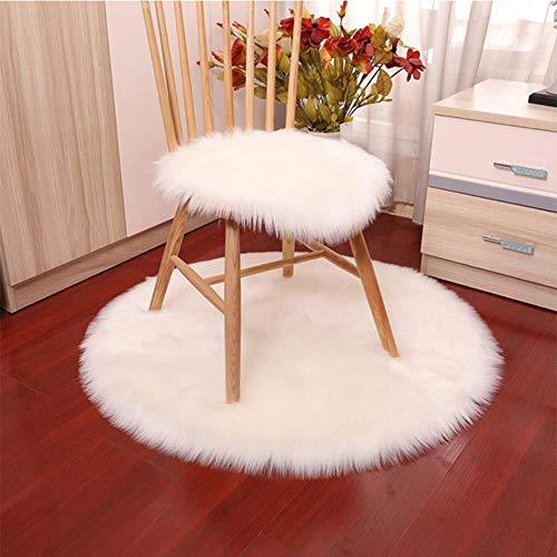 LCZMQRCLMZRQVloerkleed ronde pad vlinderstoel pad kaptafel make-up kruk vloerkleed, wit, 60x60cm