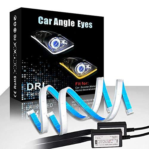 CARLITS LEDデイタイムランニングライトターンシグナルバルブ24Inスイッチバックシーケンシャルヘッドライ...