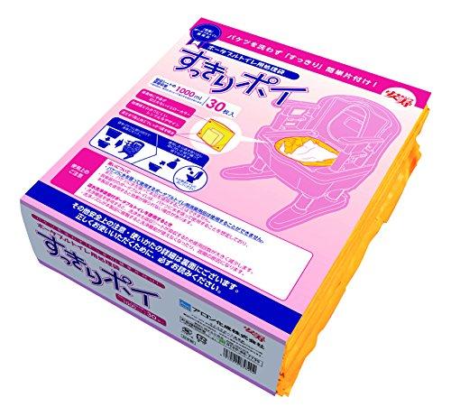 安寿『ポータブルトイレ用処理袋 すっきりポイ 30枚入』