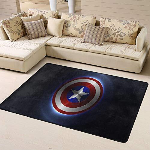 Zmacdk Avengers Infinity - Alfombra para dormitorio infantil (180 x 270 cm), diseño de Iron Man