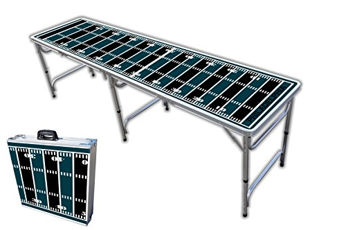 8-Foot Professional Beer Pong Table - Philadelphia Football Field Graphic