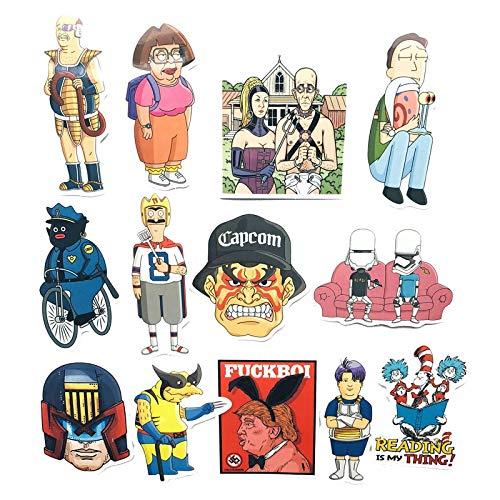 HHSM Manga Cool Pegatinas para equipaje, equipaje, equipaje, monopatín, guitarra, calcomanías coloridas, impermeables, 13 unidades