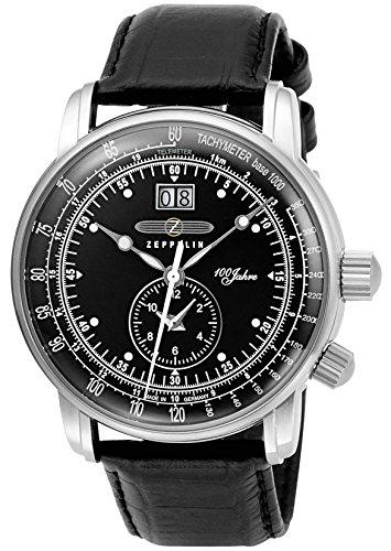 [ツェッペリン] 腕時計 100周年モデル ブラック文字盤 7640-2 並行輸入品 ブラック [並行輸入品]