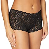 Maidenform womens Casual Comfort Cheeky Boyshort boy shorts panties, Black, Large US