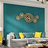Reloj de Pared Reloj de Pared Silencioso Metal Acero Inoxidable Simple Creativo Estilo Europeo Decorativo para Sala de Estar Dormitorio O