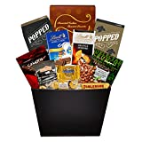 delicious chocolate filled gift basket of gourmet chocolates delights