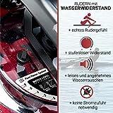 Fuel Fitness RG500 Fitness-Rudergerät, Wasserrudergerät für zuhause, realistisches Rudergefühl, Nutzergewicht bis 150kg, LCD-Rudercomputer mit App-Anbindung - 3