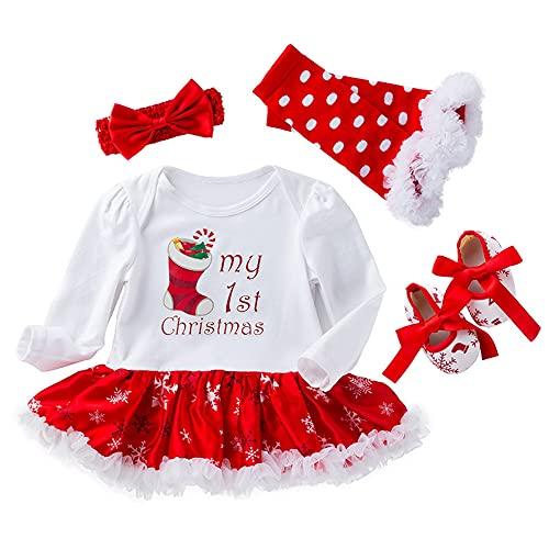 TMOYJPX Navidad Disfraz Niña Vestido Niño 0-24 Meses Princesa Invierno,