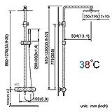 Homelody Duschsystem inkl. Thermostat Duscharmatur Überkopfbrause Regendusche Handbrause Regenbrause mit Duschpaneel - 5