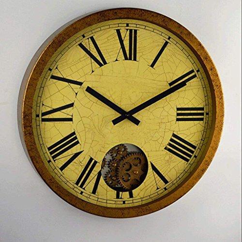 FFCVTDXIA Reloj Sala de Estar Equipo Creativo Moda Acero Inoxidable Pared Personalizado Engranaje Pared Decorativo Reloj/c zhihao (Color : E)