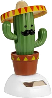 Cactus Solar Powered Shaking Head Dancing Car Ornament Dashboard Decoration Toy Gift - Cactus
