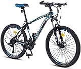 Bicicletas de montaña, bicicleta de montaña de 26 pulgadas para hombres y mujeres, para adultos, velocidad variable, carreras, bicicleta ultraligera, 40 ruedas, marco de aleación con frenos de disco