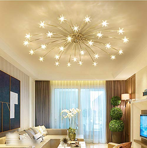 Deckenleuchte LED Modern Deckenlampe Stern Styling Acryl Lampeschirm Wohnzimmer Leuchte Eisen Deckenbeleuchtung Romantische Chic Design Schlafzimmer Küche Esszimmer Kronleuchter G4 Warmes light