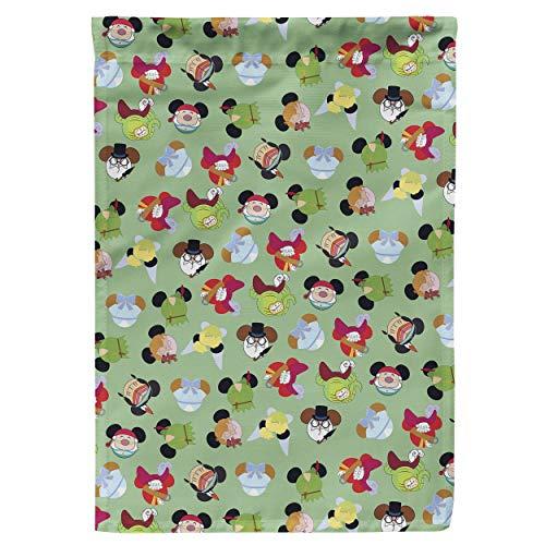 Regenboog Regels Tuin Vlag - Peter Pan Mouse Oren Disney Geïnspireerd Large Garden Flag 28x40in Groen