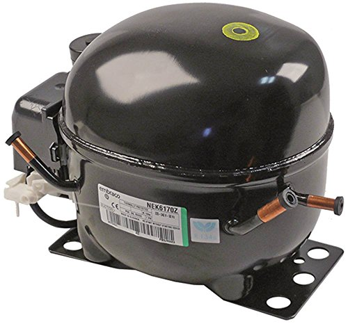 Kompressor NEK6170Z vollhermetisch 50Hz 10,4kg Höhe 187mm 8,4 cm³ Kältemittel R134a 1/4 HP 1.056 W 874W 461W 367W 576W 714W